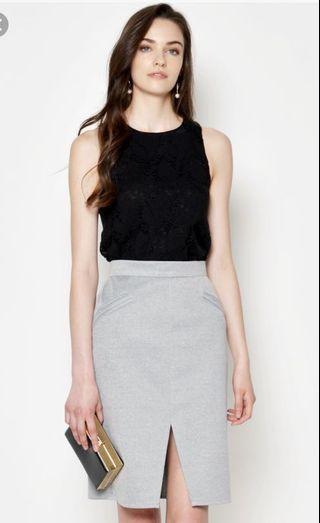 🚚 BN Love and Bravery LAB Zula Pencil Skirt Grey XS