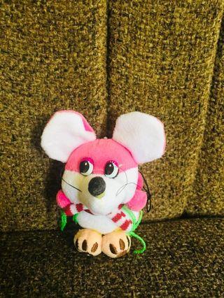 Boneka mini pink mouse