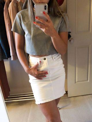 Ksubi White Denim Skirt