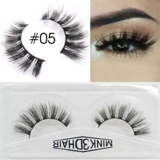 3D Mink Eyelashes Extensions Natural Handmade Fake Eyelashes #05