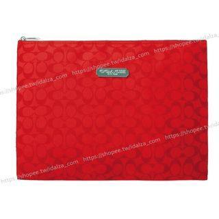 ☆Idalza☆ 絕版 限量 日本 雜誌 贈品 Coach 信封包 IPad Mini 文件 資料袋 收納袋 化妝包