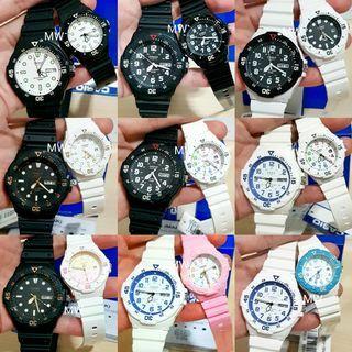 Casio original resin lover coupe pair watch mrw200h lrw200h brand new