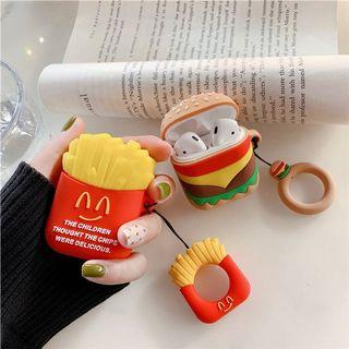 🚚 PO: burger/fries apple airpods silicone cover