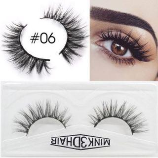 3D Mink Eyelashes Extensions Natural Handmade Fake Eyelashes #06