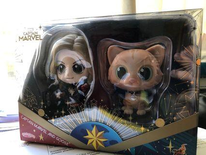 Captain Marvel and goose cosbaby avengers