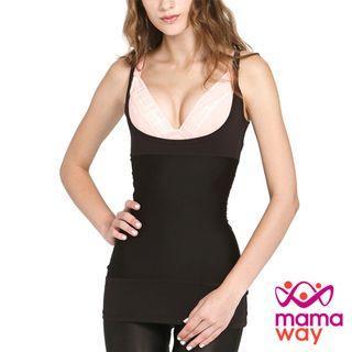 全新 Mamaway 媽媽餵 超低圓領腰腹緊實修飾衣 哺乳衣 塑身衣 建議售價NT1380