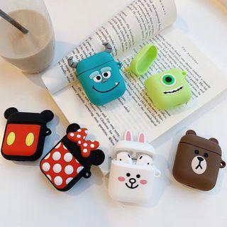 🚚 PO: cartoon apple airpods silicone cover