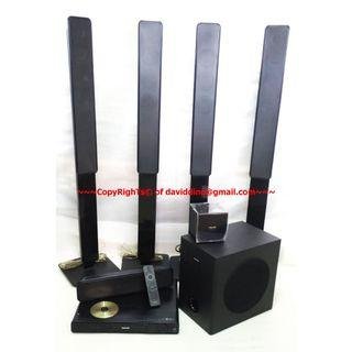 ~~~ USeD PHILIPS HTS 3678  5.1 HoMe TheaTRe SySTeM  $288 ~~~
