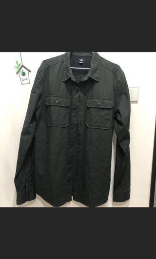 DC軍綠牛仔外套