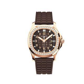 Patek Philippe Aquanaut 18k Rose Gold Diamonds Ladies Watch