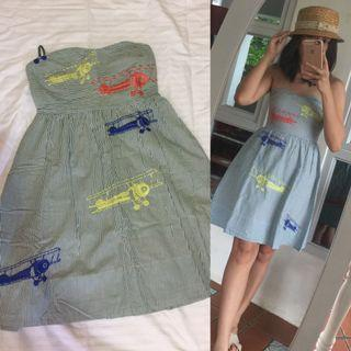 Embroided tube dress