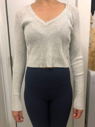 Brandy Melville Grey Knitted top