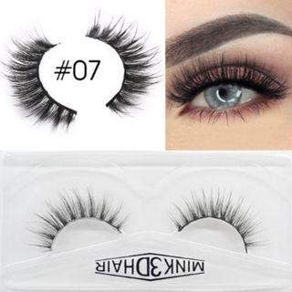 3D Mink Eyelashes Extensions Natural Handmade Fake Eyelashes #07