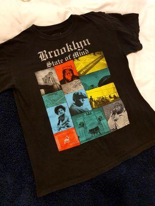 Brooklyn State of Mind Biggie hip hop t-shirt size L