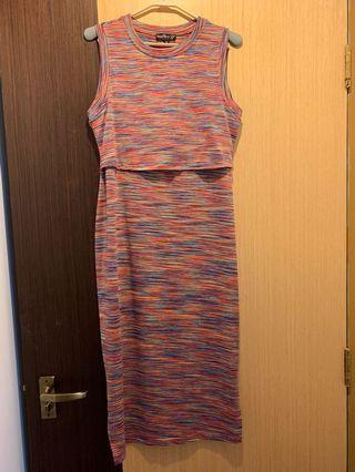 Nursing rainbow dress