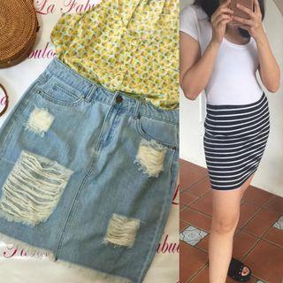 Denim skirt / bandage skirt