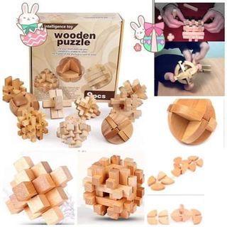3D Wooden Puzzle👏🏻1盒有9個解鎖積木