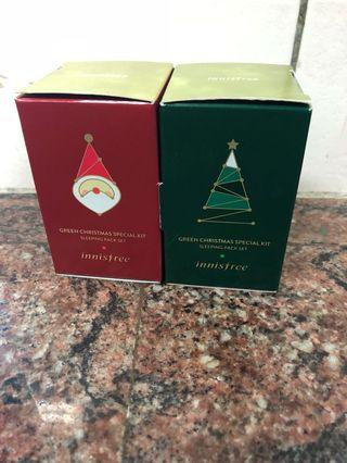 Innisfree 晚安面膜組合 綠茶保濕 濟州寒蘭