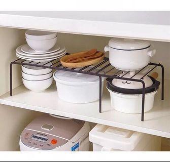 客廳廚房枱面櫃內置物架 可伸縮架