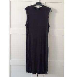 MNG black shift dress