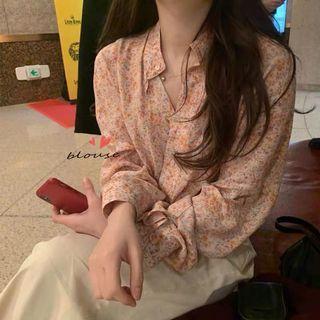 🚚 (全新免運)韓版春天氣息粉嫩碎花襯衫