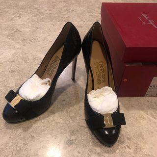 Black Ferragamo Heels