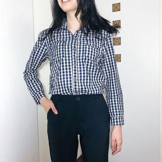 Queen shop復古格紋襯衫 #半價衣服拍賣會