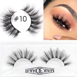 3D Mink Eyelashes Extensions Natural Handmade Fake Eyelashes #010