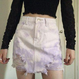 Forever 21 Lilac Denim Mini Skirt