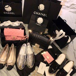 Chanel shoes packgae ldle sale