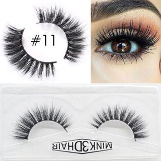 3D Mink Eyelashes Extensions Natural Handmade Fake Eyelashes #11
