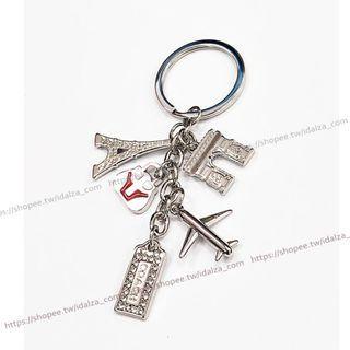 ☆Idalza☆ 巴黎鐵塔 凱旋門 巴黎假期 造型 汽車 機車 鑰匙圈 鑰匙 包包吊墜 掛飾 禮盒裝 (特價)