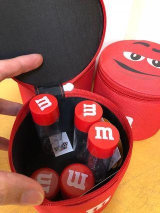 國外帶回正版M&M盥洗包、化妝盒