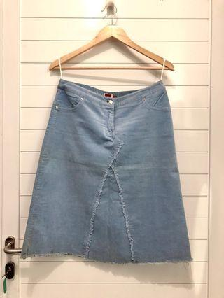 Baby Blue Suede Skirt