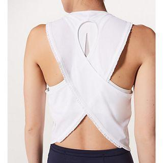 New Lululemon Fast As Light Tank SPECIAL EDITION FRILLED in White Size 4