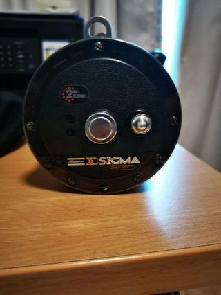 Sigma fishing reel and drum