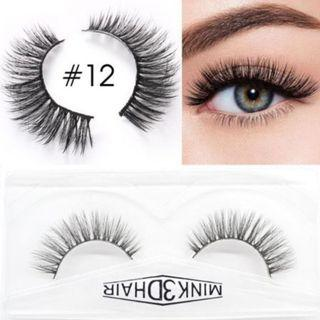 3D Mink Eyelashes Extensions Natural Handmade Fake Eyelashes #12