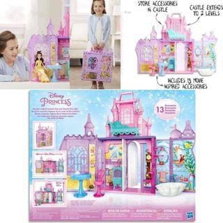 BNIB: Disney Princess Pop-Up Palace, Castle Playset Fashion Doll with Handle and 13 Accessories, 5 Rooms, 2 Feet Tall