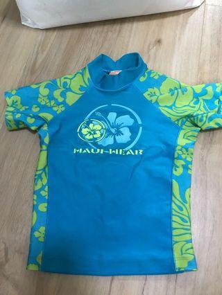🚚 Preloved Kids Swim Top / Rashguard (Maui Wear) size 4