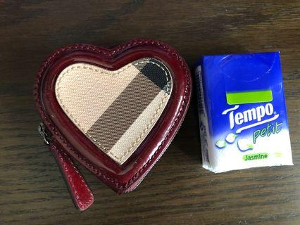 Burberry Heart Shaped Coin Purse / Wallet 心型包包