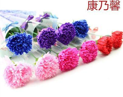🚚 康乃馨香皂花50支