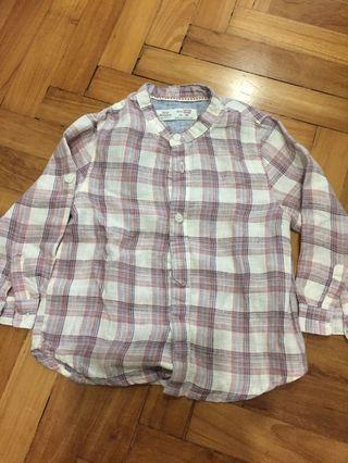 Zara Mandarin Collared Shirt
