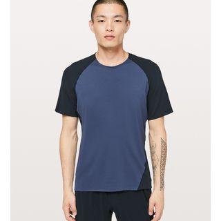 New Lululemon Focal Point Short Sleeve in Gatsby Blue/True Navy Size S & M