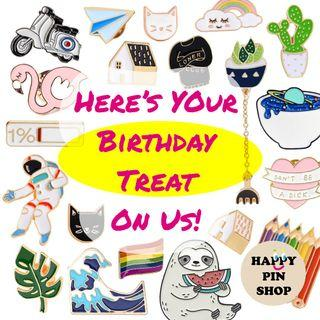 Enamel Pin Monthly Birthday Promo - Get 20 to 50% Off at Toy Outpost @ Plaza Singapura!