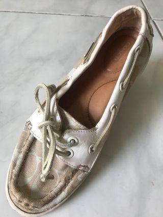 Coach Richelle Signature Boat Shoes #mausupreme