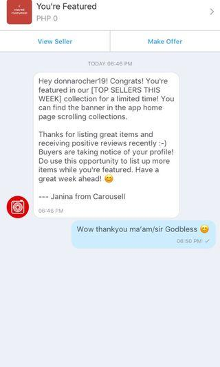 Thankyou Carousell 🤗 godbless is all!!!