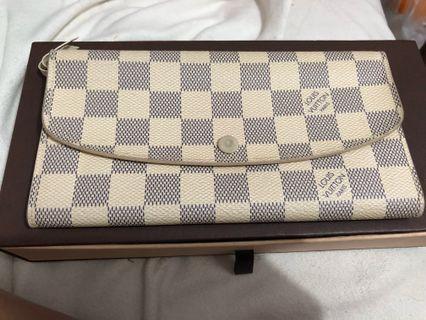 Louis Vuitton LV長夾 格紋扣式零錢長夾