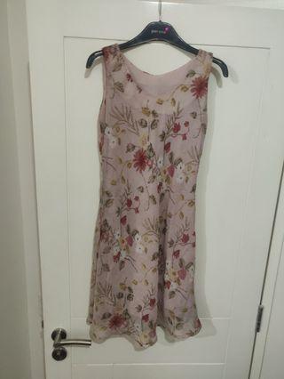 Rose Floral Formal Dress
