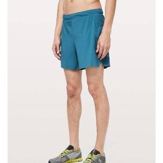 "New Lululemon Men's Surge Short 6"" Lined in Pewter Blue Size M"