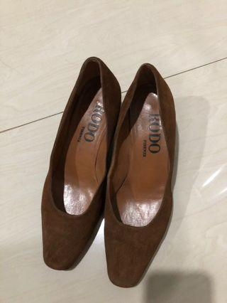 Rodo brown suede shoes